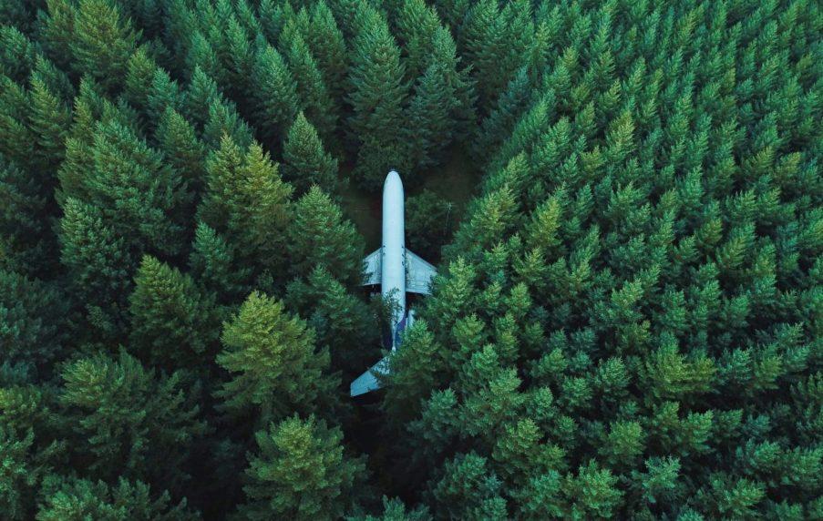 Sachwerte wie Flugzeuge sollten nicht im Wald aufbewahrt werden