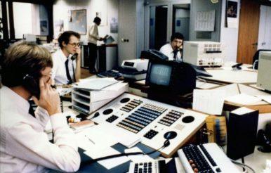 Währungsrisiko: Devisenhändler der Bundesbank 1988.