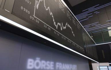 Dax 40: Anzeigentafel in der Börse Frankfurt